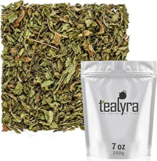 Tealyra - Pure Spearmint Leaves - Best African Moroccan Mint Tea - Herbal Loose Leaf Tea - Relaxing - Digestive - Caffeine...