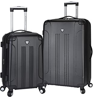 "Travelers Club 2 Piece Original ""Chicago Collection"" Hardside +25% Expandable Luggage Set Includes 28"" Upright and 20"" Carry-On Luggage, Black Color Option"