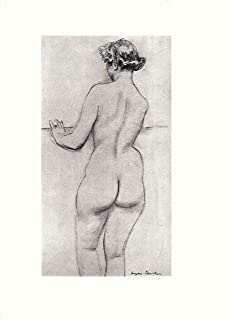 Standing Nude Model - Rear View - 1947
