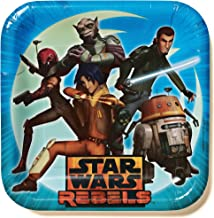 """Star Wars Rebels 9"""" Square Plates, Party Favor"""