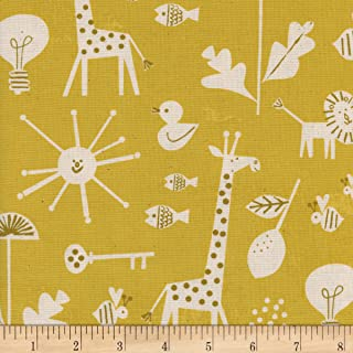 Cotton + Steel Yellow Christian Robinson Spectacle Sunbeam Fabric by The Yard