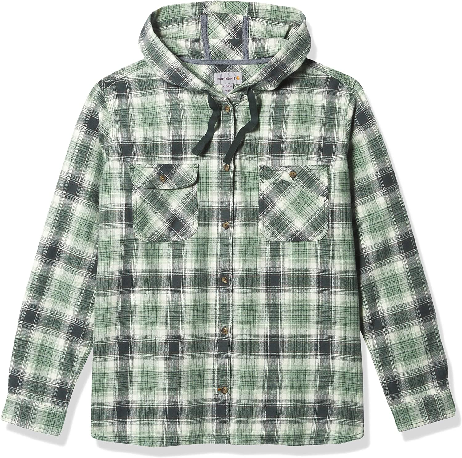Las Vegas Complete Free Shipping Mall Carhartt Women's Relaxed Fit Hooded Plaid Flannel Shirt