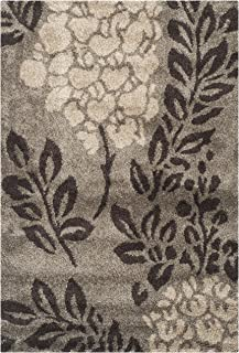 Safavieh Florida Shag Collection SG456-7928 Smoke and Dark Brown Area Rug (8' x 10')