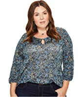 Lucky Brand - Plus Size Floral Ruffle Top