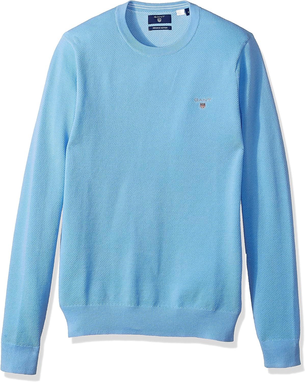 GANT Cotton Pique Crewneck Sweater Maglione Uomo