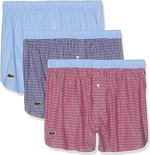 Lacoste Men's Underwear Cotton Woven Boxer, Multipack