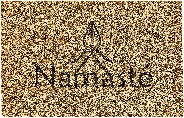 Calloway Mills 120792436 Namaste Doormat 24 X 36 X 0 60 Natural Black