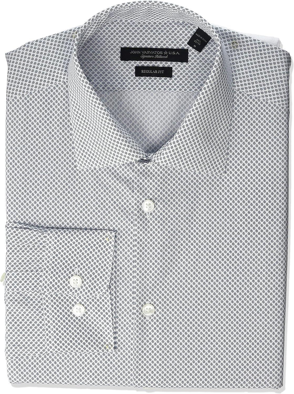 John Varvatos Star USA Men/'s Short Sleeve Lion Floral Print Shirt Light Olive