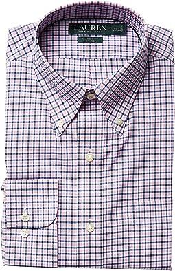 LAUREN Ralph Lauren Classic Fit Poplin Plaid Button Down Collar Dress Shirt