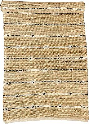Creative Co-Op 2.5' x 8' Handwoven Cotton & Jute Blend Tufted Rug Table Runner, Beige