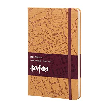 "Moleskine Limited Edition Harry Potter Notebook, Hard Cover, Large (5"" x 8.25"") Ruled/Lined, 240 Pages"