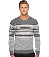 Original Penguin - Long Sleeve Engineered Fair Isle Holiday Crew Sweater