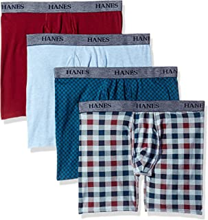 Hanes Men's 4-Pack Ultimate FreshIQ Stretch Boxer with ComfortFlex Waistband Brief - Colors May Vary