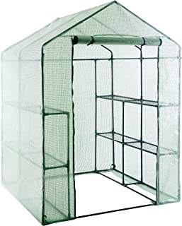 GOJOOASIS Walk in Portable Garden Greenhouse Mini Plants Shed Hot House with 3 Tiers