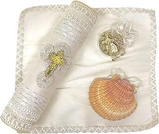 Salve Regina Hand Made Catholic Christening/Baptism Kit - Model 1