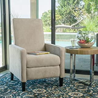 Christopher Knight Home 298398 Durston Slim Recliner Chair, Natural Linen