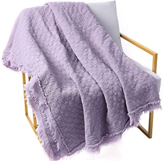 DOLDOA 100% Cotton Bedding Throw Blanket,Premium Soft Breathable Bedding Coverlet Blanket Throw and Quilt Perfect for Bed,Couch,Sofa,Car (80 x 90 inch)