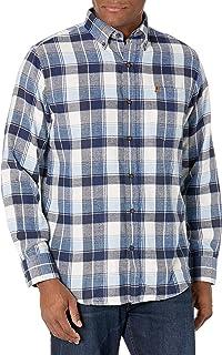 IZOD Men's Advantage Performance Flannel Long Sleeve Stretch Button Down Shirt
