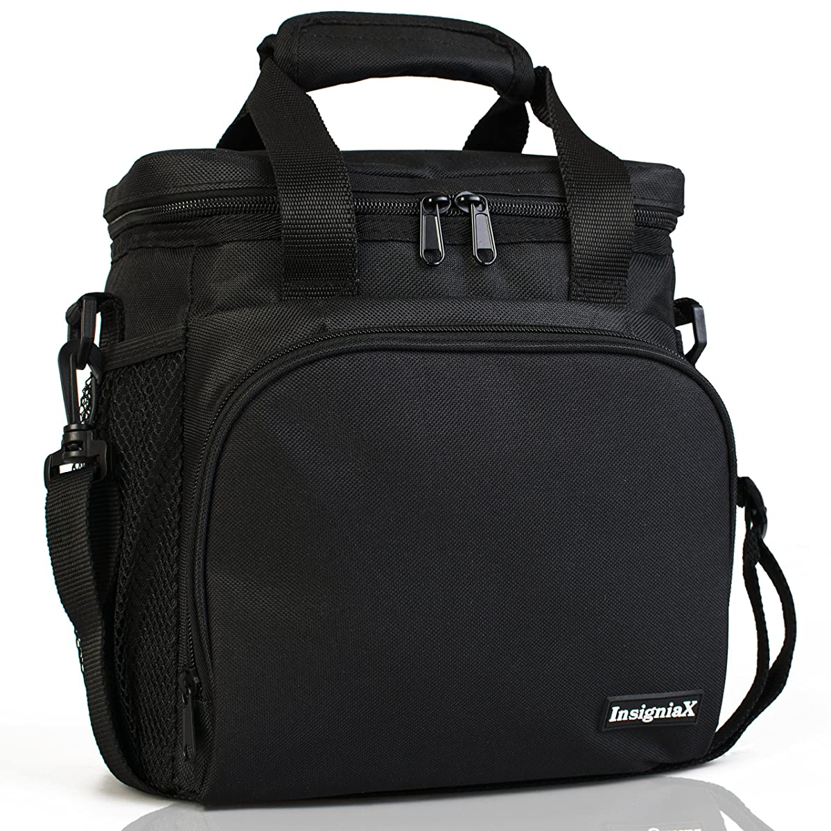 InsigniaX Insulated Lunch Bag S1/S2 Lunch Box/Cooler/Lunchbag for Adult Women Men Work School Picnic Girls Boys with Strap Bottle Holder H: 10
