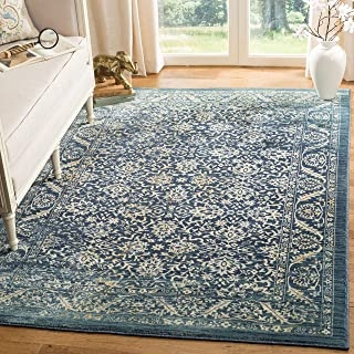 Safavieh Evoke Collection EVK507A Vintage Oriental Navy and Gold Area Rug (8' x 10')