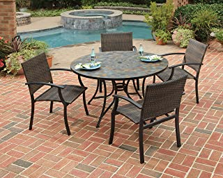 Stone Harbor Black 5Piece Dining Set with Table & 4 Newport Arm Chairs by Home Styles