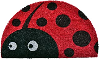 Imports Décor Half Round Ladybug Vinyl Backed Coir Doormat, 30 by 18 by 1/2-Inch