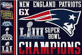 FanaticFan4Life New England Patriots Super Bowl Flag - Super Bowl 53, Pats Nation, 3x5 Flag, Banner, Champions