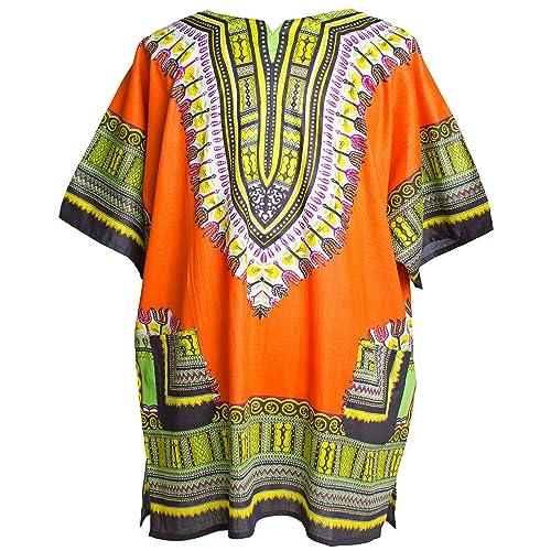 fbec9961be8 Ragstock Traditional African Print Unisex Dashiki