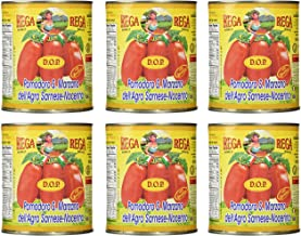 San Marzano Dop Authentic Whole Peeled Plum Tomatoes (6 Pack)