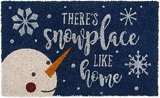 DII Indoor/Outdoor Natural Coir Holiday Season Doormat, 18x30, Snowplace Like Home