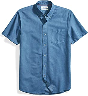 Goodthreads Men's Standard-Fit Short-Sleeve Solid Oxford...