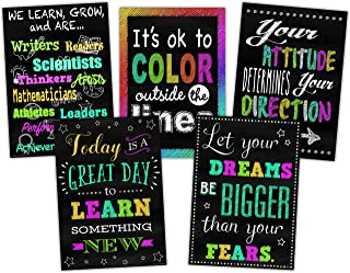 Teacher Created Resources  Chalkboard Brights Positive Poster Pack (TCR6658)