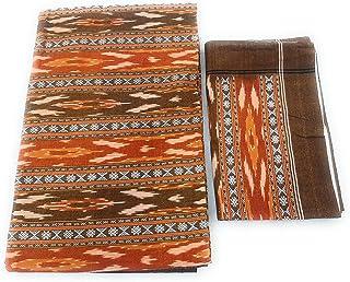 Ikkat India Handloom weaved sambalpuri bedsheets bedcover king size cotton linen double bed sheets4