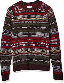 Amazon Brand - Goodthreads Men's Lambswool Fairisle Crewneck Sweater