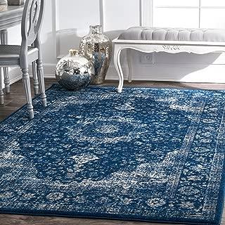 nuLOOM 200RZBD07C-71001010 Verona Vintage Persian Area Rug, 8' x 10', Dark Blue