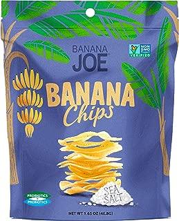 Banana Joe Chips | Prebiotic + Probiotic | Gluten Free + Non GMO | Increase Protein Absorption | (6-Pack) (Sea Salt (1-Pack))