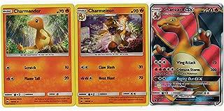 Charizard GX Evolution Set - SM60 Full Art - Promo Foil Charmeleon & Charmander Promo Burning Shadows Card Lot