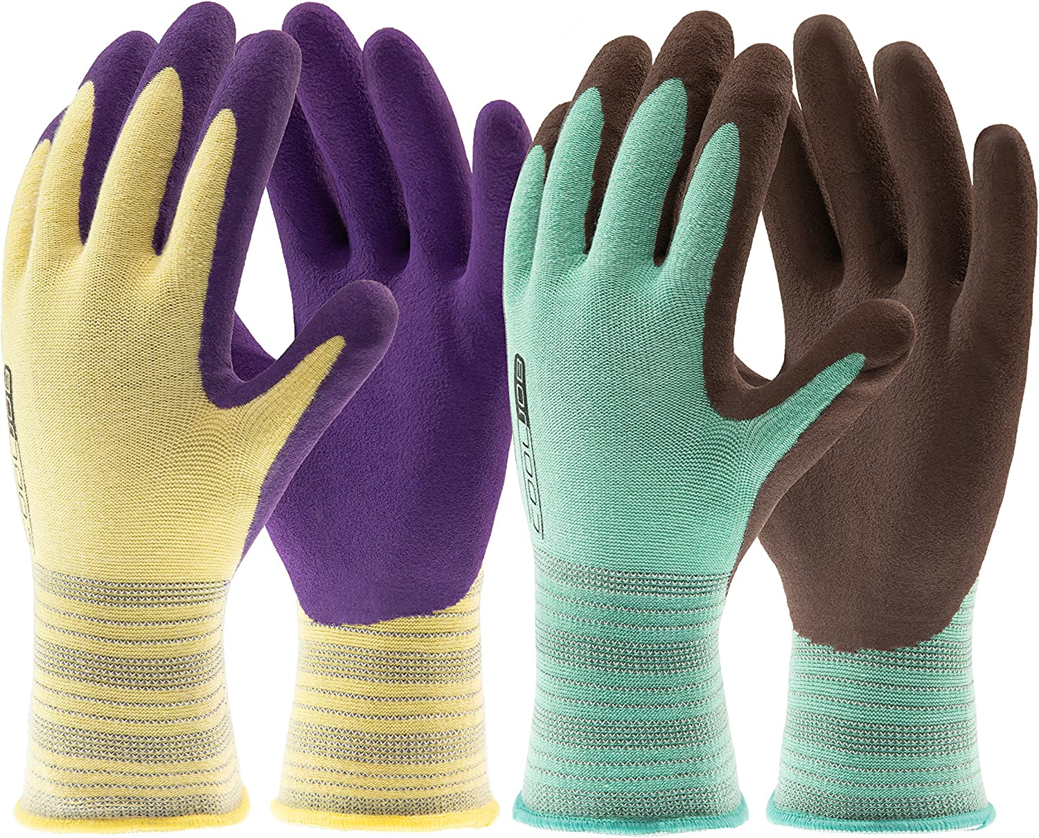 COOLJOB 2 Pairs Gardening Gloves for Max 41% OFF Women Men Easy-to-use Breathable Rubbe