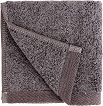 Everplush Flat Loop Quick-Dry Washcloth Towel Set, 6 Pack, Charcoal (Dark Gray)