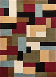 Imperial Mosaic Multicolor Geometric Modern Casual Area Rug 5x7 ( 5'3