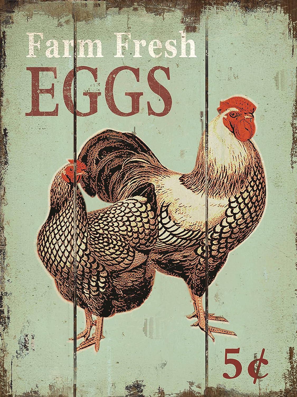 Barnyard Designs Farm Fresh Eggs Retro Plaque S Wood Oakland Raleigh Mall Mall Bar Vintage