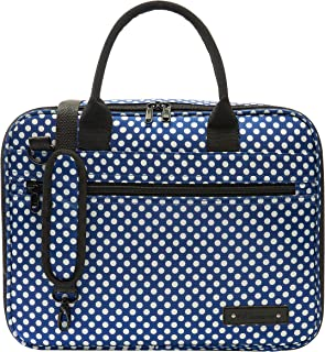 Beaumont Clarinet/Oboe Carry Case-Blue Polka Dot (BCB-BP)