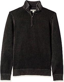 Goodthreads Men's Soft Cotton Quarter Zip Sweater