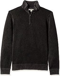 Amazon Brand - Goodthreads Men's Soft Cotton Quarter Zip Sweater