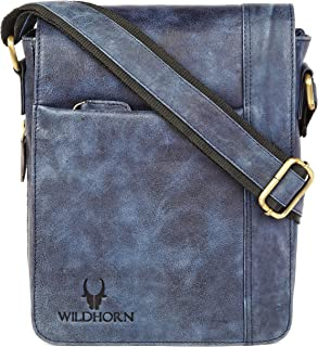 WILDHORN Leather Sling Messenger Bag (Bombay Brown) L- 8.5inch W-3 inch H-10.5 inch