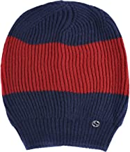 Gucci Unisex Multi-Color 100% Wool Beanie Hat One Size Blue/Red