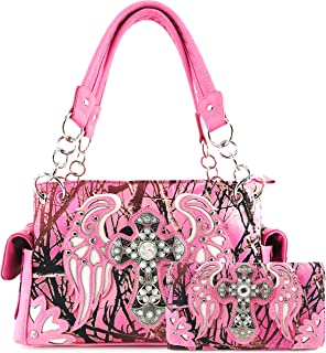 pink camo purses with bling
