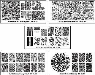 Maniology (formerly bundle monster) 5pc Blogger Collaboration Nail Art Polish Stamping Plates - Set 2