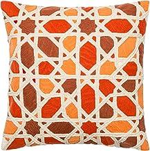 "Loloi Loloi-PSETP0301ORREPIL1-Orange Decorative Accent Pillow 100% Cotton Cover with Poly Fill 18"" x 18"", 18"" x 18"", Orang..."