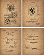 Darts Patent Art Prints - Set of 4 (8 inches x 10 inches) Photos - Vintage Decor